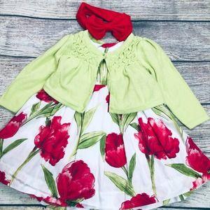 Baby Gap 6-12m dress/sweater set